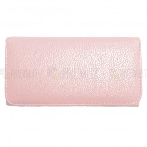"""""""Litchi"""" universali šviesiai rožinė odinė telefono piniginė - dėklas (L dydis)"""