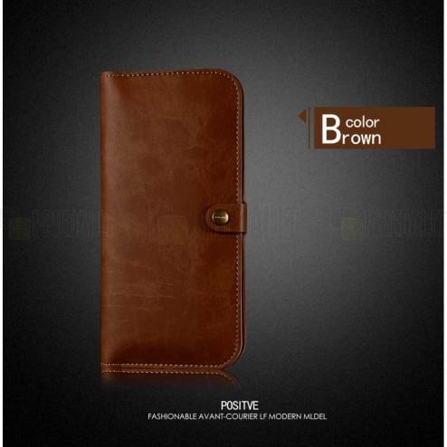 """Solidi """"JLW"""" šviesiai ruda odinė universali įmautė - piniginė (XL dydis)"""
