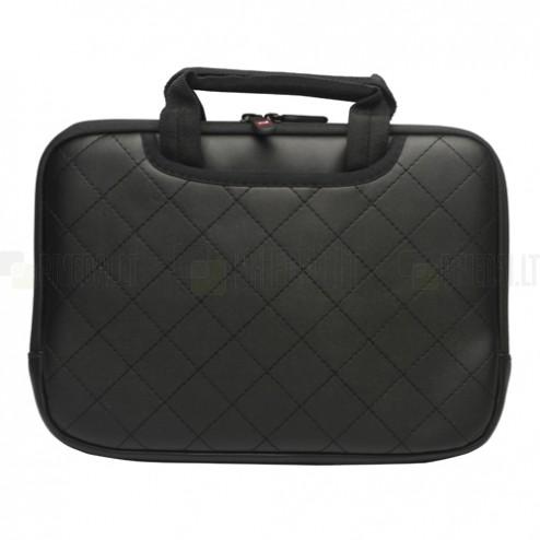 Universali juoda odinė kompiuterinės planšetės įmautė, krepšys, 10.1 colių planšetėms