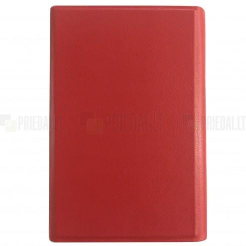 Universalus dėklas - knygutė, raudona 7 colių planšetėms