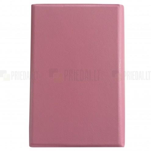 Universalus dėklas - knygutė, rožinė 7 colių planšetėms