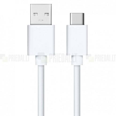 Type-C USB baltas laidas 1 metro
