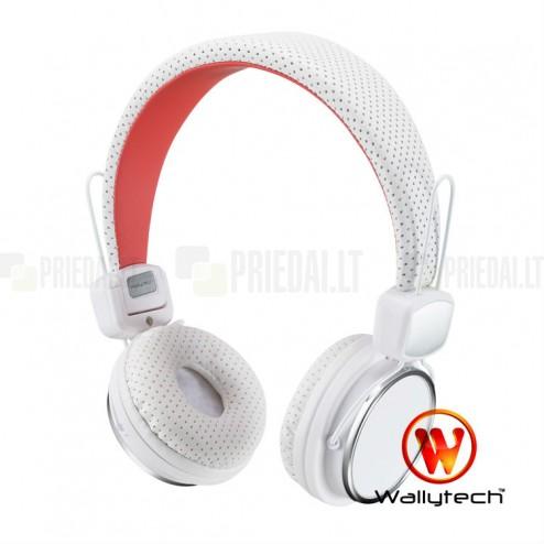 """""""Wallytech"""" baltos ausinės su lankeliu"""