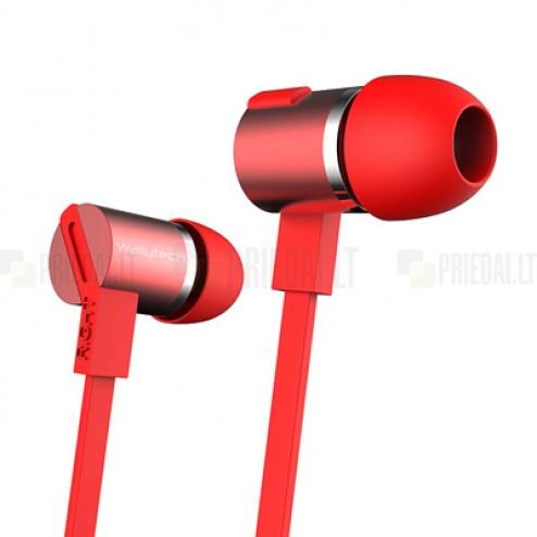 """""""Wallytech"""" Essential W800 raudonos spalvos įkišamos į ausis ausinės (laisvų rankų įranga)"""