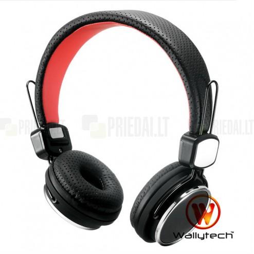 """""""Wallytech"""" juodos ausinės su lankeliu"""