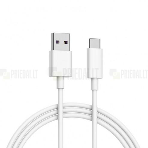 Xiaomi Type-C USB baltas laidas 1 m. (MDY-08-EO, originalus)