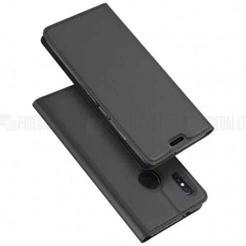 """""""Dux Ducis"""" Skin serijos Xiaomi Mi 6X (Xiaomi Mi A2) juodas odinis atverčiamas dėklas"""