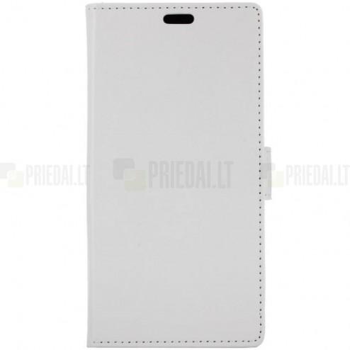 Xiaomi Redmi 4X  atverčiamas baltas odinis dėklas, knygutė - piniginė