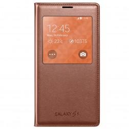 """""""Samsung"""" S View Cover atverčiamas dėklas - auksinis (Galaxy S5 / S5 Neo)"""
