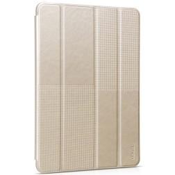 """""""HOCO"""" Crystal Fashion atverčiamas odinis dėklas - auksinis (iPad Air 2)"""