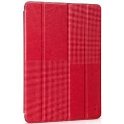 """""""HOCO"""" Crystal Fashion atverčiamas odinis dėklas - raudonas (iPad Air 2)"""