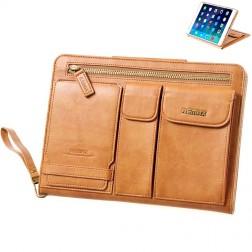 """""""Remax"""" Pedestrian solidus atverčiamas dėklas, rankinė - ruda (iPad Air 2)"""