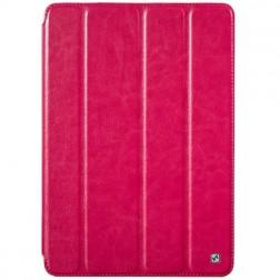 """""""HOCO"""" Crystal atverčiamas odinis dėklas - rožinis (iPad Air)"""