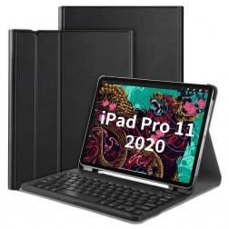 """Atverčiamas dėklas su klaviatūra - juodas (iPad Pro 11"""" 2021 / 2020 / 2018 / Air 4 2020)"""