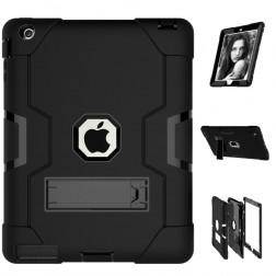 Sustiprintos apsaugos dėklas - juodas (iPad 2 / 3 / 4)