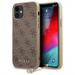 """""""Guess"""" dėklas - rudas (iPhone 12 Mini)"""