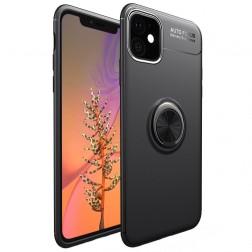 """""""FOCUS"""" Kickstand kieto silikono (TPU) dėklas - juodas (iPhone 11)"""