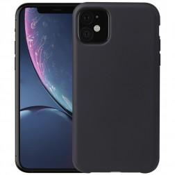 Kieto silikono (TPU) dėklas - juodas (iPhone 11)