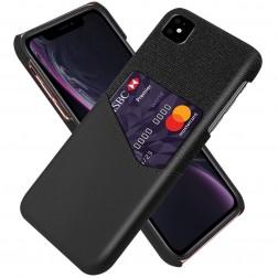 """""""KSQ"""" Shell dėklas su kišenėle - juodas (iPhone 11)"""