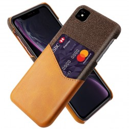 """""""KSQ"""" Shell dėklas su kišenėle - rudas (iPhone 11)"""