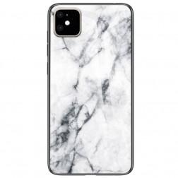"""""""Marble"""" kieto silikono (TPU) dėklas - baltas (iPhone 11)"""