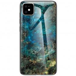 """""""Marble"""" kieto silikono (TPU) dėklas - mėlynas (iPhone 11)"""