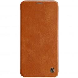 """""""Nillkin"""" Qin atverčiamas dėklas - rudas (iPhone 11)"""