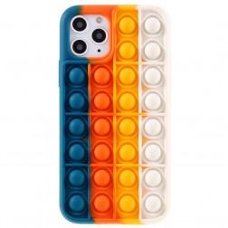 """Popit"" Bubble minkšto silikono (TPU) dėklas - mėlynas (iPhone 11 Pro)"