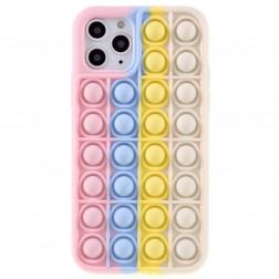 """""""Popit"""" Bubble minkšto silikono (TPU) dėklas - rožinis (iPhone 11 Pro)"""