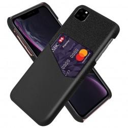"""""""KSQ"""" Shell dėklas su kišenėle - juodas (iPhone 11 Pro)"""