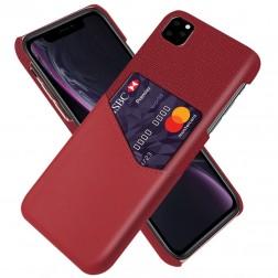 """""""KSQ"""" Shell dėklas su kišenėle - raudonas (iPhone 11 Pro)"""