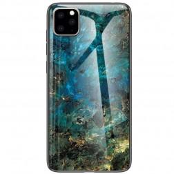 """""""Marble"""" kieto silikono (TPU) dėklas - mėlynas (iPhone 11 Pro)"""