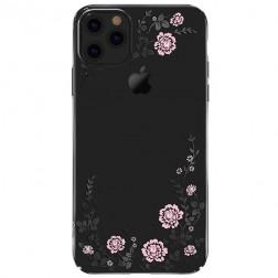 """""""Kavaro"""" Flowers Swarovski dėklas - juodas (iPhone 11 Pro)"""