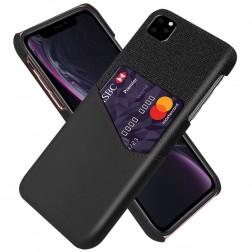 """""""KSQ"""" Shell dėklas su kišenėle - juodas (iPhone 11 Pro Max)"""