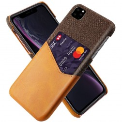 """""""KSQ"""" Shell dėklas su kišenėle - rudas (iPhone 11 Pro Max)"""