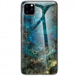 """""""Marble"""" kieto silikono (TPU) dėklas - mėlynas (iPhone 11 Pro Max)"""