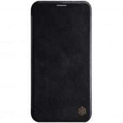 """""""Nillkin"""" Qin atverčiamas dėklas - juodas (iPhone 11 Pro Max)"""