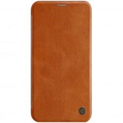 """""""Nillkin"""" Qin atverčiamas dėklas - rudas (iPhone 11 Pro Max)"""