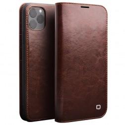 """""""QIALINO"""" atverčiamas dėklas - rudas (iPhone 11 Pro Max)"""