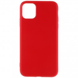 """""""Shell"""" kieto silikono (TPU) dėklas - raudonas (iPhone 11 Pro Max)"""