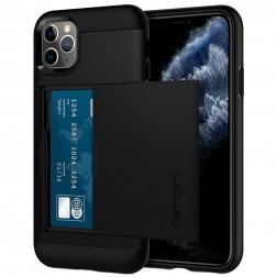 """""""Spigen"""" Slim Armor CS dėklas - juodas (iPhone 11 Pro Max)"""