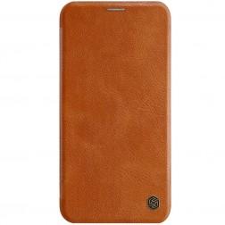 """""""Nillkin"""" Qin atverčiamas dėklas - rudas (iPhone 11 Pro)"""
