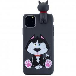 """""""Squezy"""" Dog kieto silikono (TPU) dėklas - juodas (iPhone 11 Pro)"""
