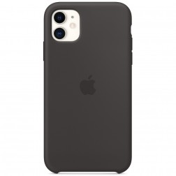 "Oficialus ""Apple"" Silicone Case dėklas - juodas (iPhone 11)"