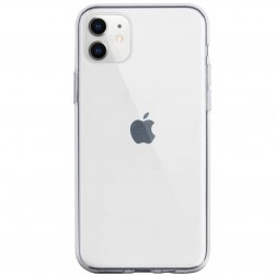 Kieto silikono (TPU) dėklas - skaidrus (iPhone 11)