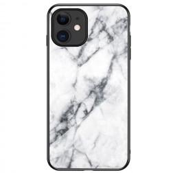 """""""Marble"""" kieto silikono (TPU) dėklas - baltas (iPhone 12 Mini)"""