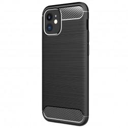 """""""Carbon"""" kieto silikono (TPU) dėklas - juodas (iPhone 12 Mini)"""