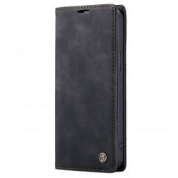 """""""CaseMe"""" Retro solidus atverčiamas dėklas - juodas (iPhone 12 Mini)"""
