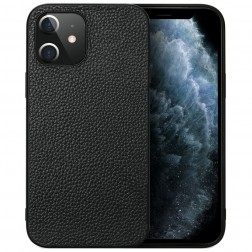 """Deluxe Leather"" dėklas - juodas (iPhone 12 Mini)"