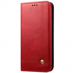 """""""Deluxe"""" atverčiamas dėklas - raudonas (iPhone 12 Mini)"""